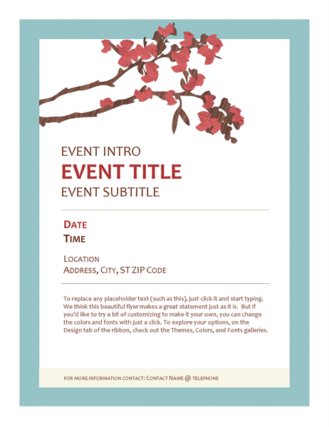 Springtime event flyer