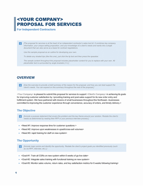 Services Proposal Business Blue Design