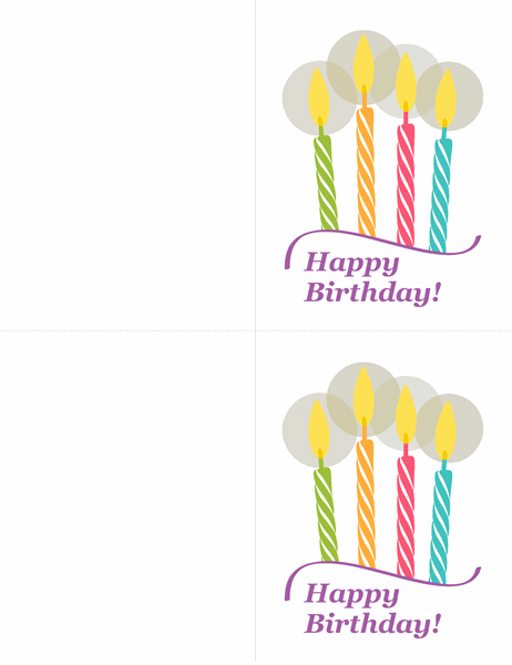 Birthday cards (2 per page)