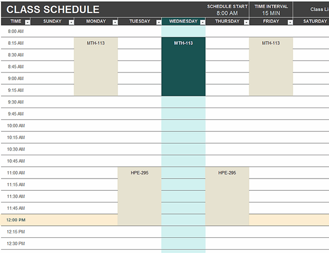 Excel Template Schedule from binaries.templates.cdn.office.net