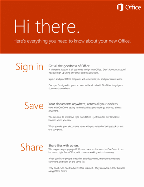 Welcome to Office - Sign in, Save, Share