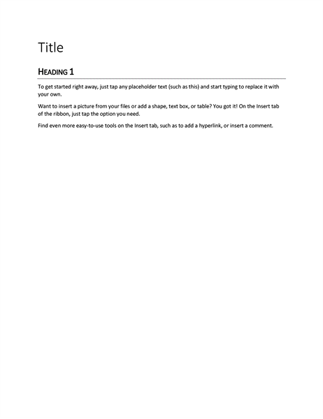 Report design (blank)