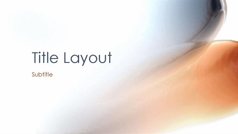 Melancholy abstract design slides