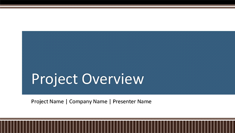 Business project planning overview presentation