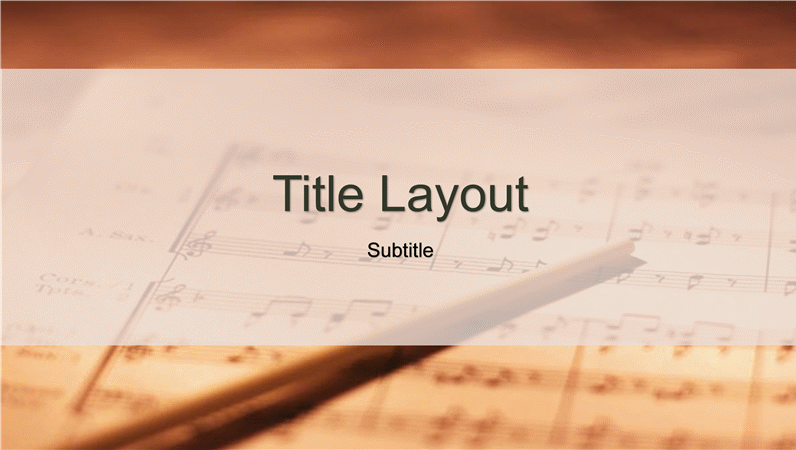Sheet music design slides