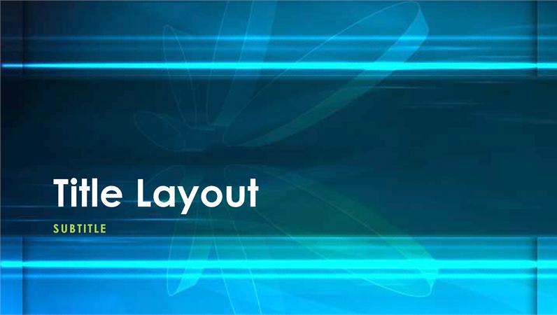 Blue atom design slides