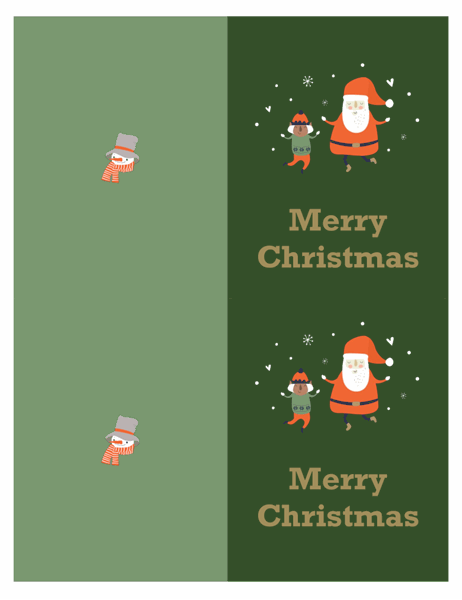 Christmas cards (Christmas Spirit design, 2 per page, for Avery paper)