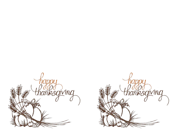 Thanksgiving invitations (2 per page, for Avery 3268)