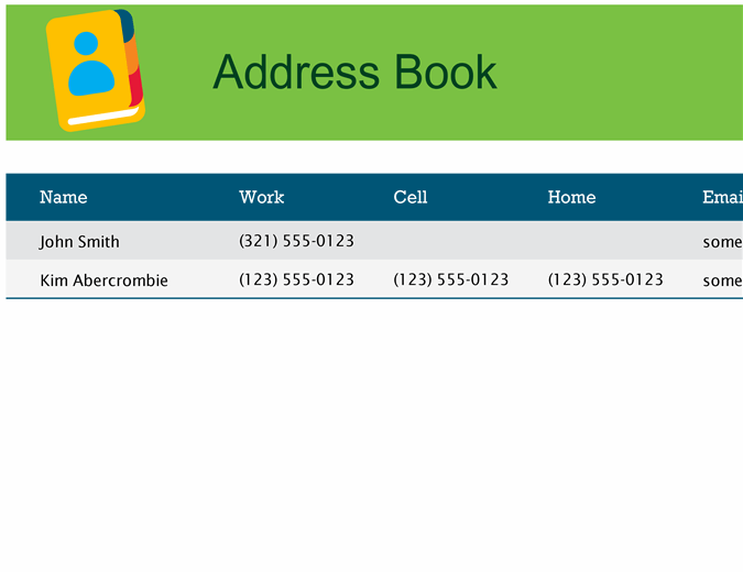 Address book