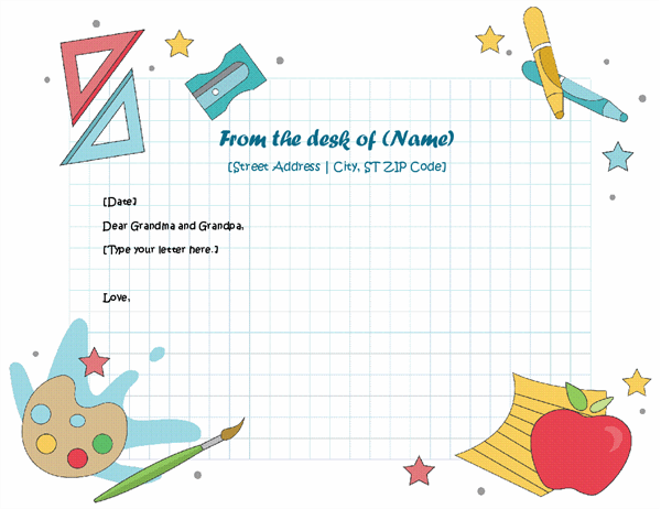 Letterhead for children