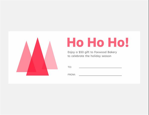 HoHoHo! holiday gift coupons