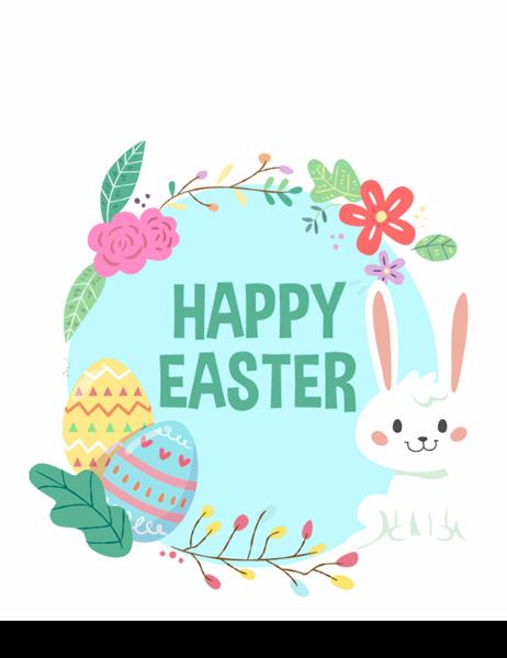 Happy Easter Card Quarter Fold