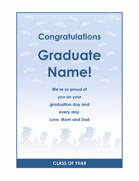 Graduate congratulations flyer (Graduation Party design)
