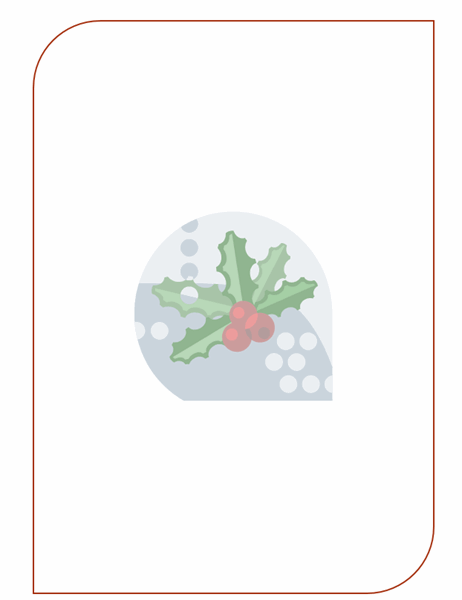 Holiday stationery (with holly leaf watermark)