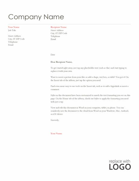 Letterhead (Red design)