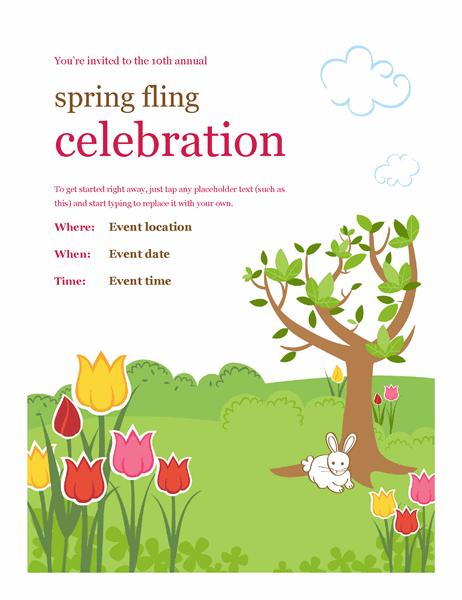 Spring festivities flyer