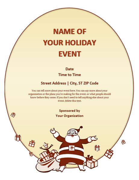 Christmas event flyer