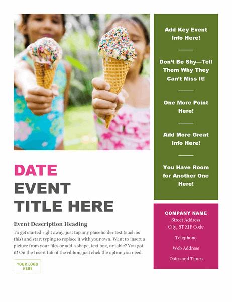 Seasonal event flyer
