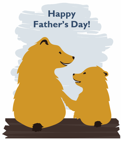 Father's Day card (from son, quarter-fold)