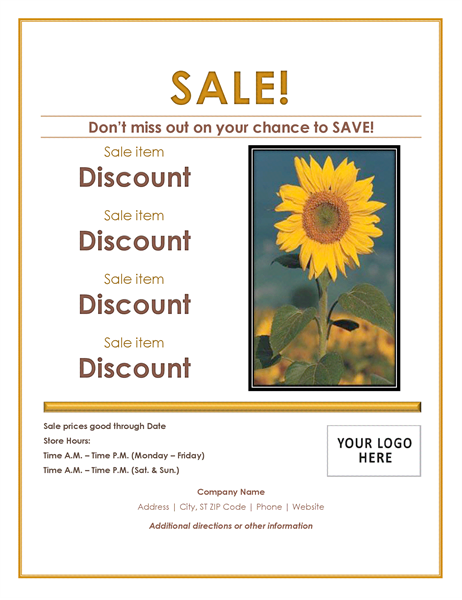 Retail sale flyer