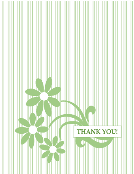 Fundraising thank you card (quarter-fold, A2 size)