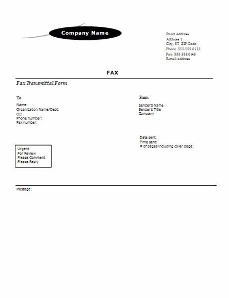 Fax cover sheet (Arc design)