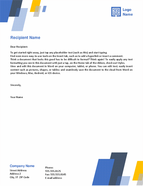 Letterhead Bars Design