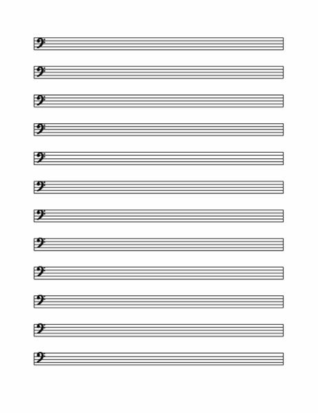 Bass clef staff (12 per page)