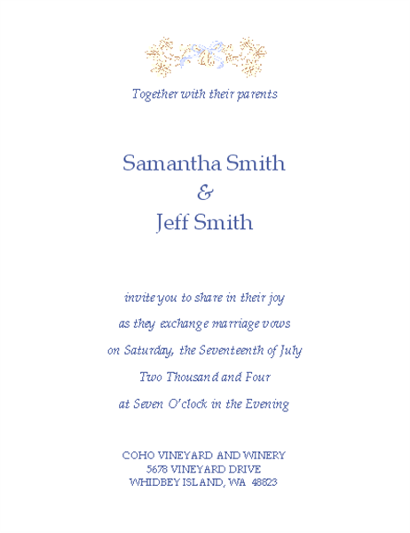 Wedding invitation (Traditional)