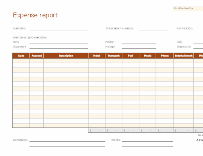 Expense Reports Template from binaries.templates.cdn.office.net
