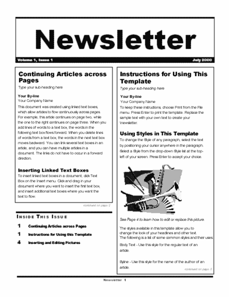 Newsletter wizard