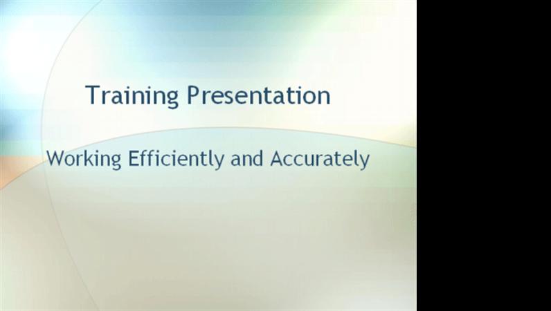 Employee training presentation