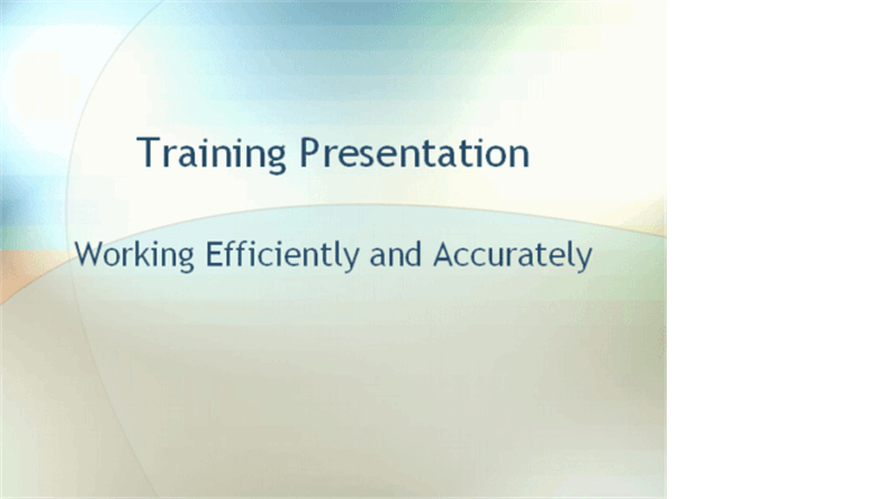 Employee training presentation
