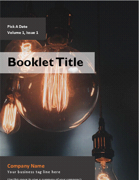 Product or service advertisement booklet