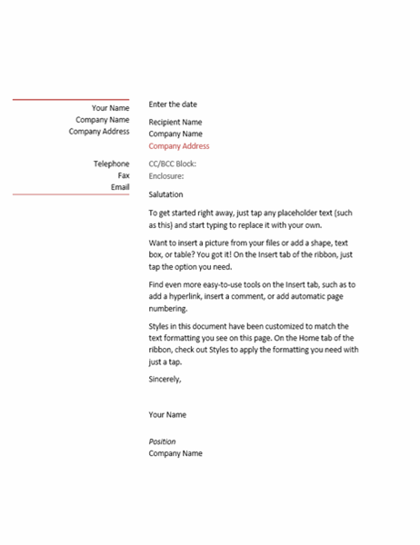 Letter (Business design)