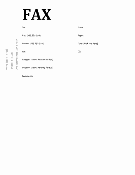 Fax cover sheet (Academic design)