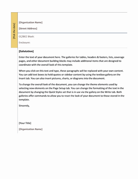 Letter (Academic design)