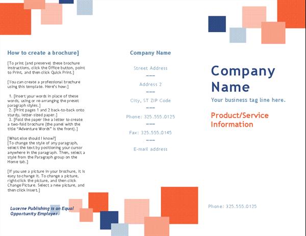 Business brochure (tri-fold)