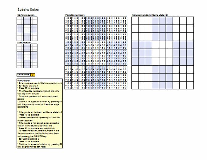 Sudoku puzzle solver