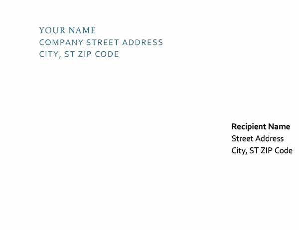 Letterhead and envelope