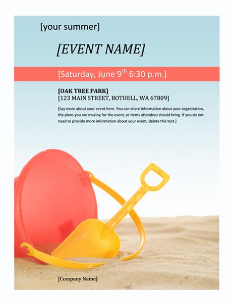Event flyer (Summer)