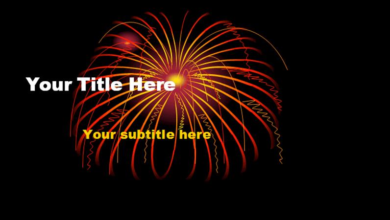 Fireworks design slides