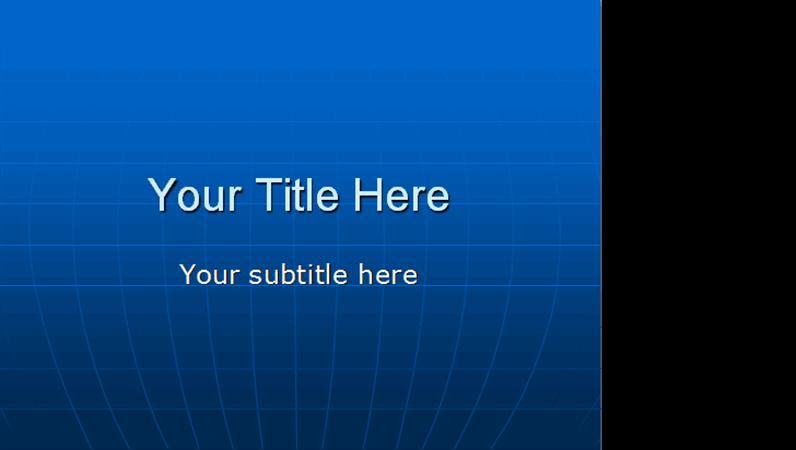 Globe design template