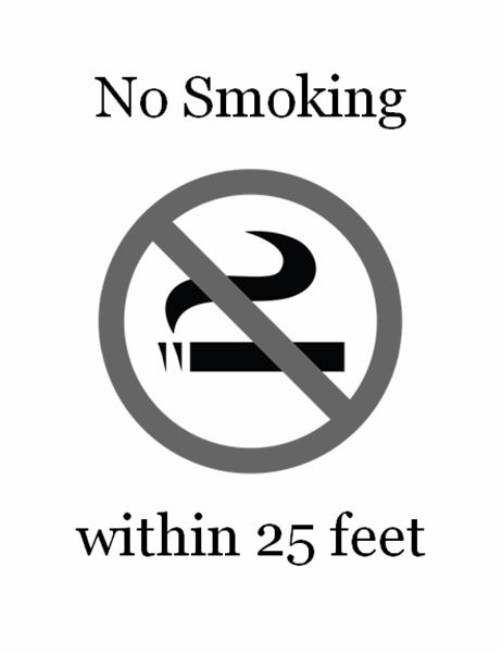 No Smoking sign (black and white)