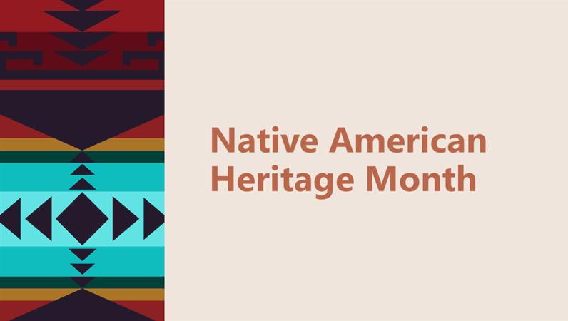 Native American Heritage Month presentation