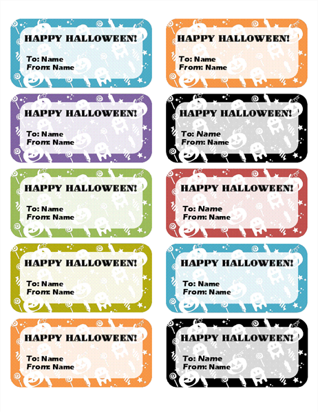 Halloween labels (10 per page)