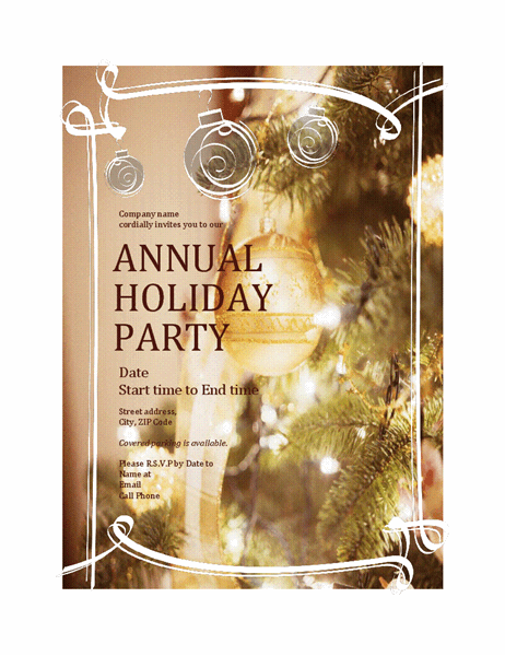 Holiday Party Invitation For Business