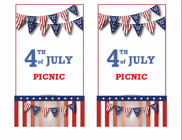 4th of July picnic invitation