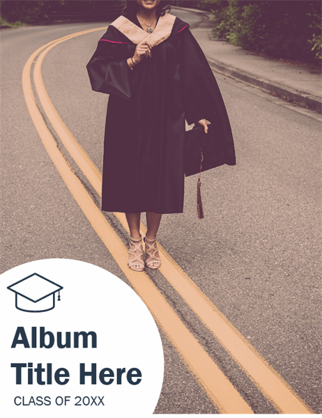 Graduation photo album (Textures design)