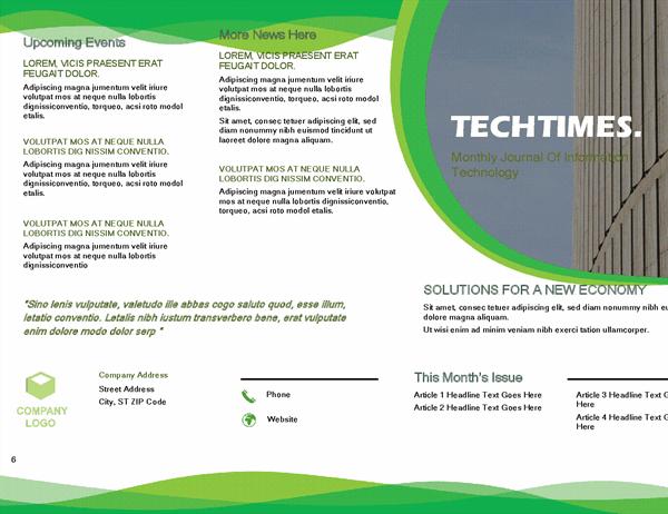 Newsletter (Green wave design)